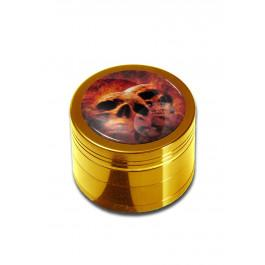 Drobilec Lobanja Black Leaf, alu, 4 delni, 50mm, zlat