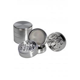 Drobilec, alu, 4 delni, 50mm, srebrn