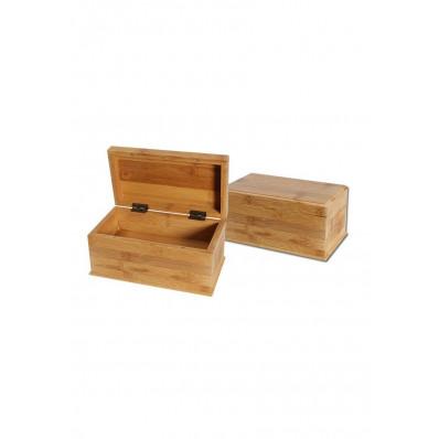 Škatla za shranjevanje, bambus, dvojno dno, 222x125x100mm ( 36 14 02 ) ZELO UGODNO