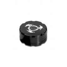 Drobilec Alu 2 delni Dragon Wheel 53mm, črn ( 43 02 46 )