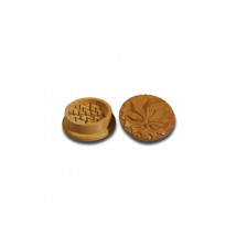 Drobilec list, leseni, dvodelni, 58mm, izrezljan motiv ( 43 07 13 )