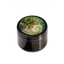 Drobilec Weed Black Leaf, alu, 4 delni, 50mm, črn ( 43 02 09-WE )