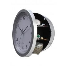 Skrivalna doza v obliki stenske ure, siva