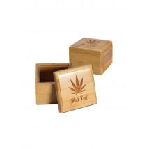 Škatla za shranjevanje Bambus List BL 70x70x55mm ( 36 14 05-A )