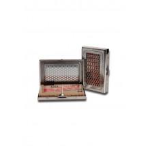 Škatlica za shranjevanje z drobilnikom, srebrna