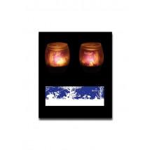 Svečnik za čajne svečke vila, steklo + 1 čajna svečka