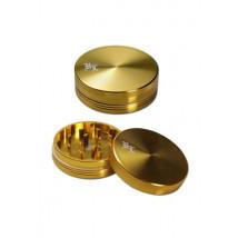 Drobilec Alu 2 delni Bl Zlat z magnetom( 43 02 28-27 )